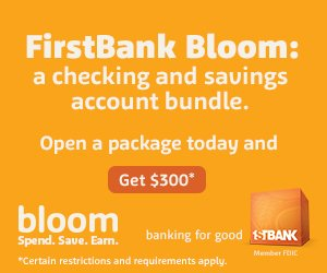 FirstBank Bloom Banner Ad